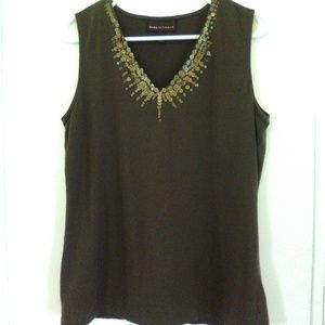 dana buchman tank top size medium green sleeveless